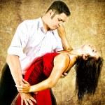 cute młodych par tańca latino — Zdjęcie stockowe