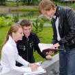 Group of students studying outdoors — Stock Photo #12704745