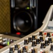 Part of a mixing panel in a radio studio — Foto de Stock