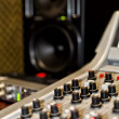Part of a mixing panel in a radio studio — Stockfoto #13592760