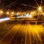 Modern city highway at night. — Stock Photo