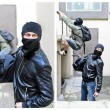 Stock Photo: Story of robbery. Collage made of four pictures
