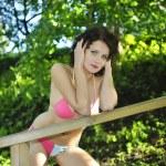 Young pretty woman in bikini have a rest — Stock Photo #17854141