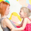 Little girl shouting at her mother — Stock Photo