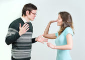 Young couple quarreling. — Stock Photo