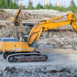Several excavators on construction site — Stock Photo #25657503
