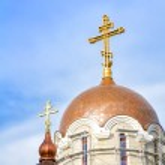 Orthodox church under construction — Stock Photo