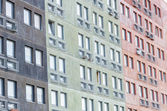 Block of flats. Social house. — Stock Photo