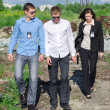 Постер, плакат: Two FBI agents conduct arrest of an offender
