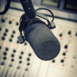 Part of a mixing panel in a radio studio — Stock Photo #28283353