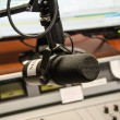 Part of a mixing panel in a radio studio — Stock Photo #28283371