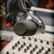 Part of a mixing panel in a radio studio — Stock Photo #28283373