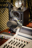 Part of a mixing panel in a radio studio — Stock Photo