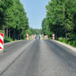 Stock Photo: Countryside asphalt road reconstruction