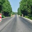 Countryside asphalt road reconstruction — Stock Photo