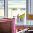 Homelike empty cafe interior — Stock Photo