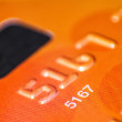 Credit or debit card chip close-up — Stock Photo