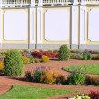 Landscaped garden in the palace — Stock Photo