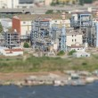 Aerial view of refinery factory. From the plane — Stock Photo