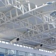 Glass and metal ceiling in the airport — Stock Photo