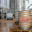 Wine manufacturing. Modern winery tanks. — Stock Photo