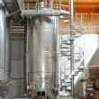 Wine manufacturing. Modern winery tanks. — Stock Photo #35820889