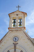 Old catholic church belfry closeup view — Stock Photo