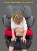 Is your child in the safe car seat? — Stock Photo