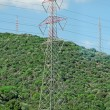 Stok fotoğraf: High voltage AC transmission towers.