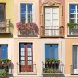Collage of eight windows photos. — Stock Photo #41146349