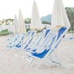 Plenty of sun loungers on the beach — Stock Photo #41631489