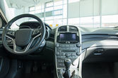 Interior of a modern new car. — Stock Photo