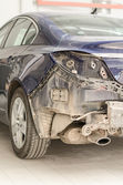 Car without a fender in repair shop. — Stock Photo