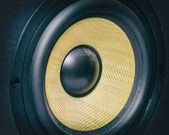 Professional music studio monitor. Close-up. — Stock Photo