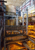 Industrial interior of old heat power plant. — Stock Photo