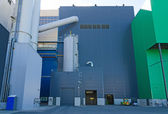 Part of industrial power plant or factory. — Stock Photo