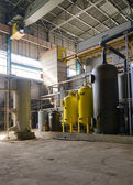 Industrial interior of heat power plant. — Stock Photo
