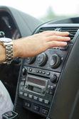 Mann mit auto klimaanlage. — Stockfoto