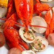 Delicious boiled lobster dinner — Stock Photo #20781005