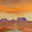 Landscape approaching Monument Valley in Utah — Stock Photo