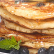 Royalty-Free Stock Photo: Delecious blueberry pancakes