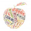 Word Cloud about apples — Stock Photo