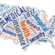 Word Cloud showing Medical and Insurance terms — Stock Photo