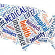 Stock Photo: Word Cloud showing Medical and Insurance terms