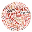 Pasta Word Cloud — Stock Photo
