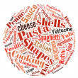 Pasta Word Cloud — Stock Photo #33168559