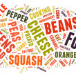 Word Cloud showing words dealing with food — Stock Photo #33168563