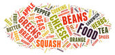 Word Cloud showing words dealing with food — Stock Photo