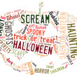 Stock Photo: Word Cloud dealing with Halloween
