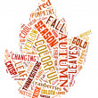 Stock Photo: Word Cloud showing words that deal with the Autumn Season